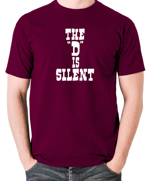 Django Unchained - The 'D' is Silent - Men's T Shirt - burgundy