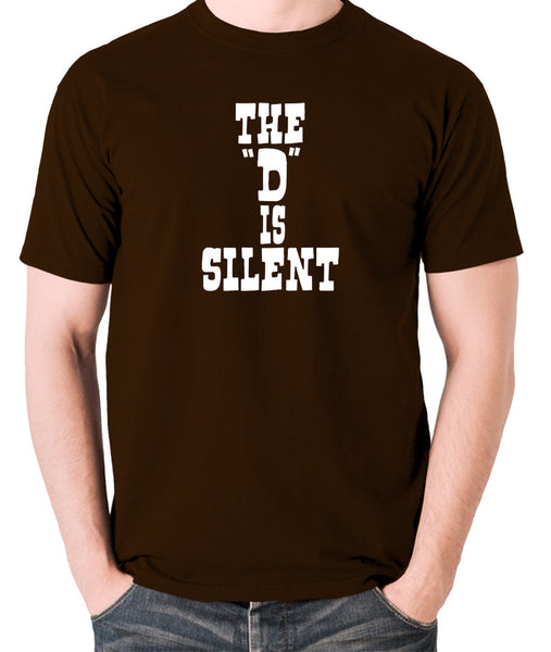 Django Unchained - The 'D' is Silent - Men's T Shirt - chocolate