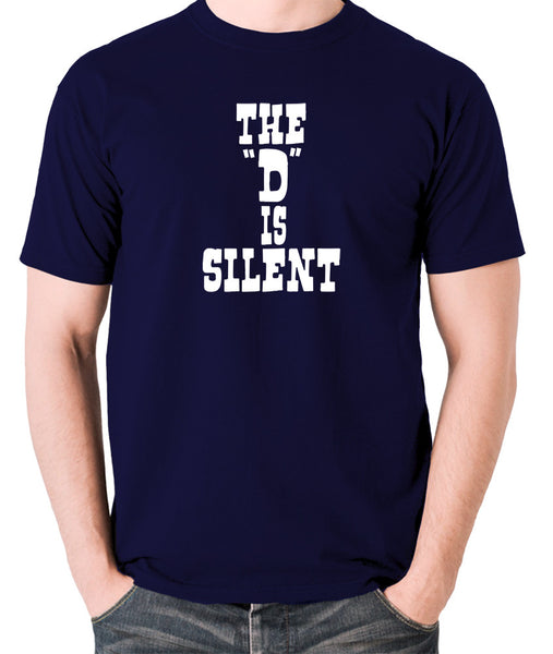 Django Unchained - The 'D' is Silent - Men's T Shirt - navy
