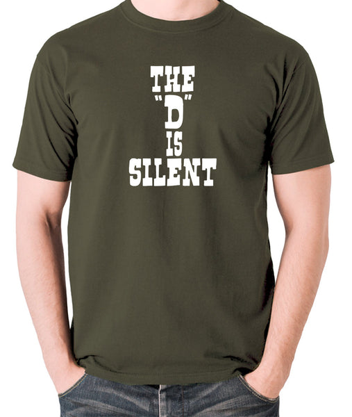 Django Unchained - The 'D' is Silent - Men's T Shirt - olive