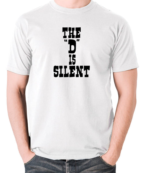 Django Unchained - The 'D' is Silent - Men's T Shirt - white
