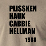 Escape From New York - Plissken, Hauk, Cabbie, Hellman 1988 - Men's T Shirt