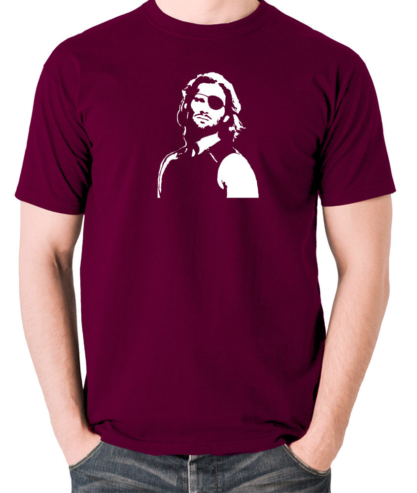 Escape From New York - Snake Plissken - Men's T Shirt - burgundy