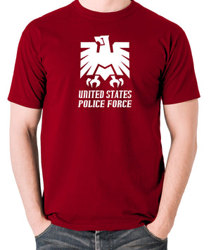 Escape From New York - United States Police Force Badge - Men's T Shirt - brick red
