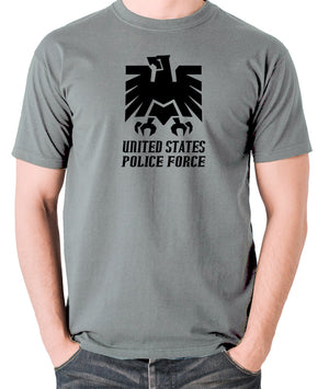 Escape From New York - United States Police Force Badge - Men's T Shirt - grey