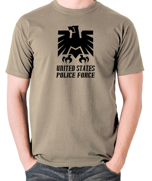Escape From New York - United States Police Force Badge - Men's T Shirt - khaki