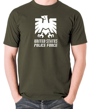 Escape From New York - United States Police Force Badge - Men's T Shirt - olive