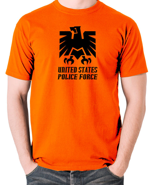 Escape From New York - United States Police Force Badge - Men's T Shirt - orange