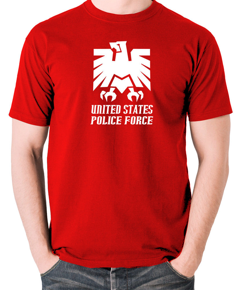 Escape From New York - United States Police Force Badge - Men's T Shirt - red