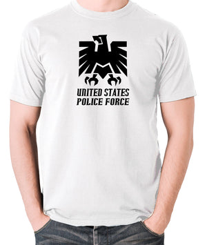 Escape From New York - United States Police Force Badge - Men's T Shirt - white