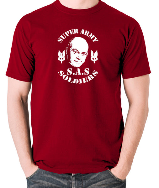 Extras - Ross Kemp, S.A.S Super Army Soldiers - Men's T Shirt - brick red