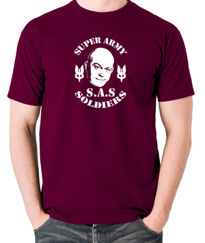 Extras - Ross Kemp, S.A.S Super Army Soldiers - Men's T Shirt - burgundy