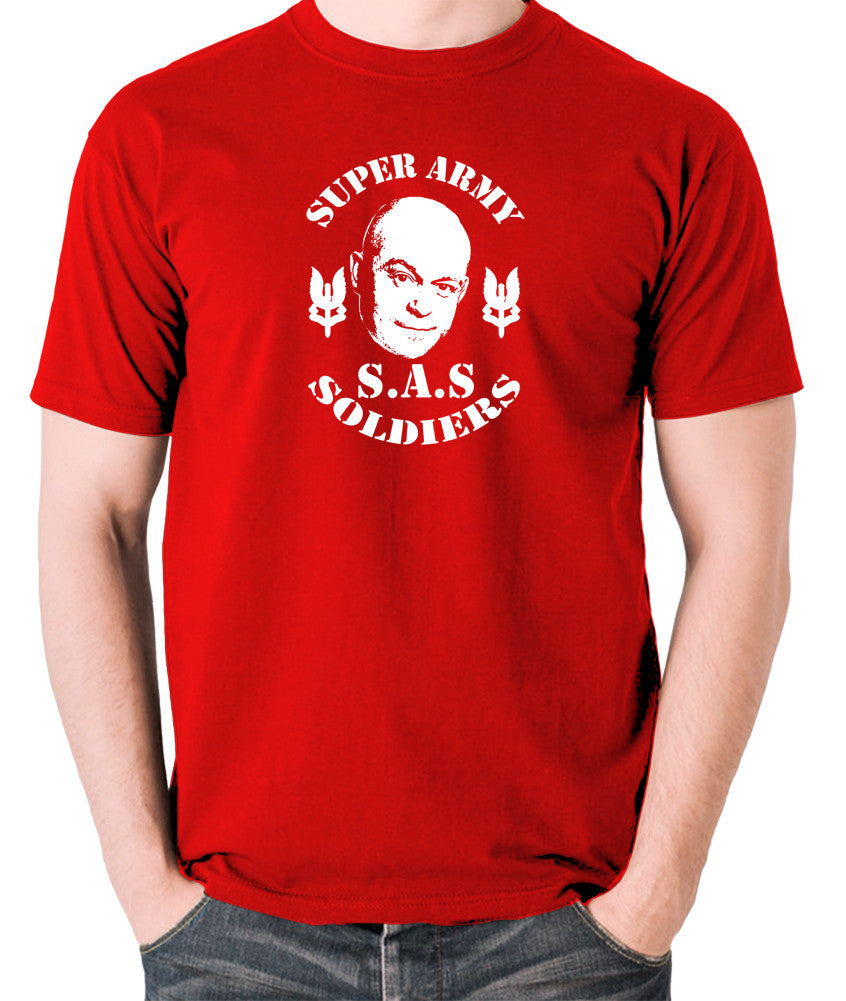 Extras - Ross Kemp, S.A.S Super Army Soldiers - Men's T Shirt - red