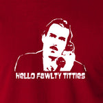 Fawlty Towers - Basil, Hello Fawlty Titties - Men's T Shirt