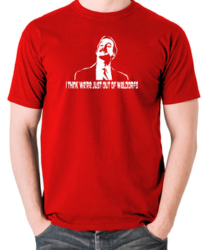 Fawlty Towers - Basil, I Think We're Just Out Of Waldorfs - Men's T Shirt - red