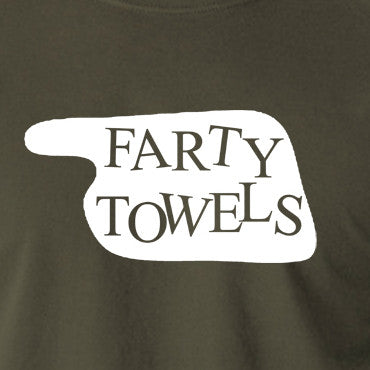 Fawlty Towers - Farty Towels Sign - Men's T Shirt