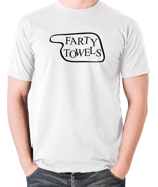 Fawlty Towers - Farty Towels Sign - Men's T Shirt - white