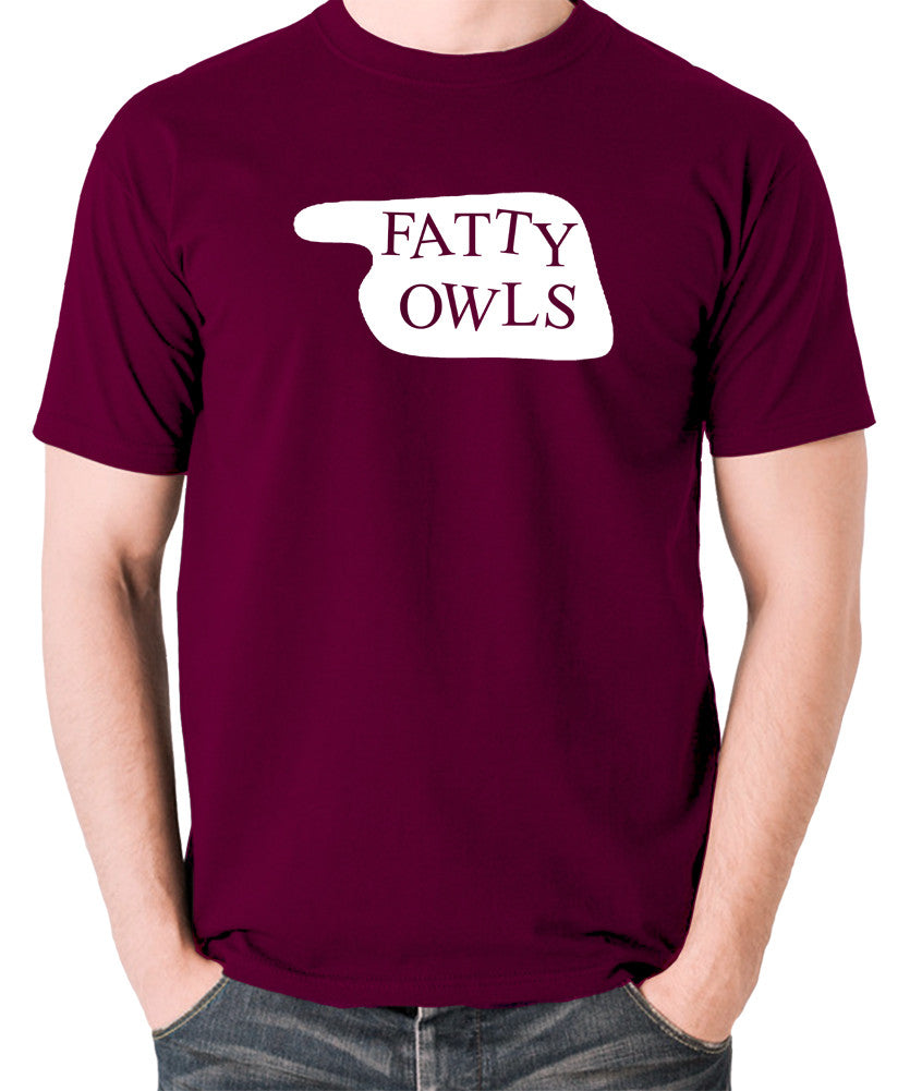 Fawlty Towers - Fatty Owls Sign - Men's T Shirt - burgundy