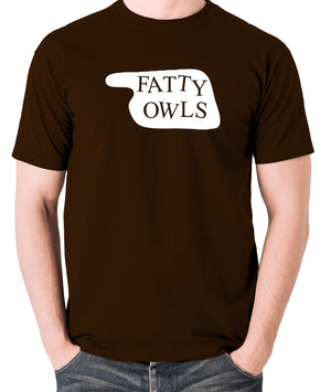 Fawlty Towers - Fatty Owls Sign - Men's T Shirt - chocolate