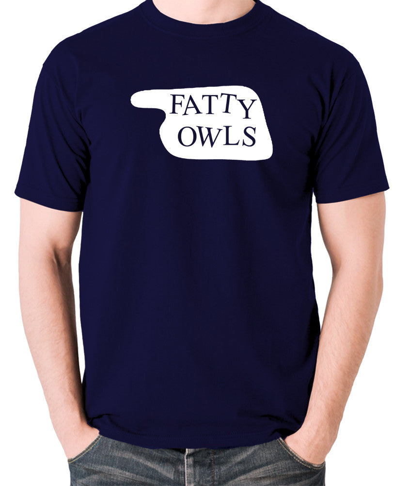 Fawlty Towers - Fatty Owls Sign - Men's T Shirt - navy