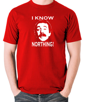 Fawlty Towers - Manuel, I Know Northing - Men's T Shirt - red