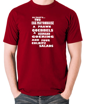 Fawlty Towers - The German's Order, Colditz Salad - Men's T Shirt - brick red