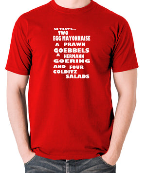 Fawlty Towers - The German's Order, Colditz Salad - Men's T Shirt - red