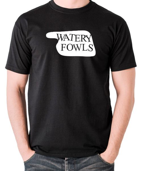 Fawlty Towers - Watery Fowls Sign - Men's T Shirt - black