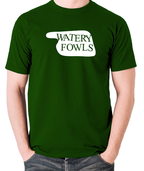 Fawlty Towers - Watery Fowls Sign - Men's T Shirt - green