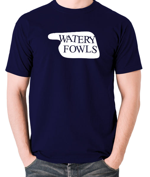 Fawlty Towers - Watery Fowls Sign - Men's T Shirt - navy