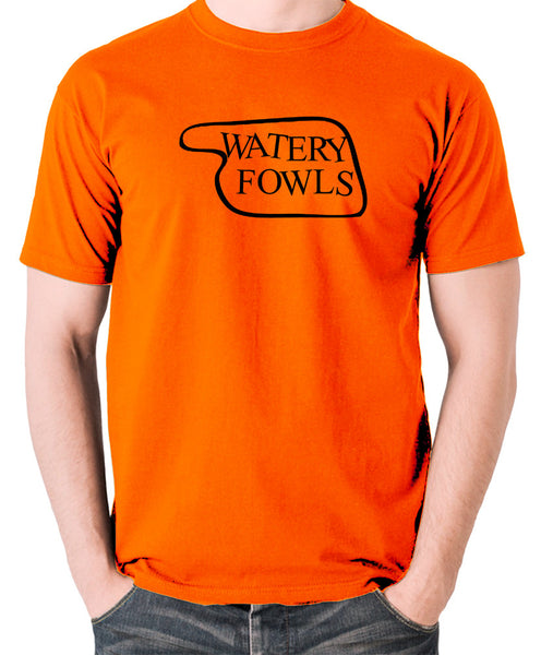 Fawlty Towers - Watery Fowls Sign - Men's T Shirt - orange