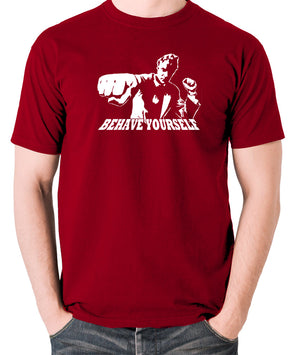 Get Carter - Jack Carter, Behave Yourself - Men's T Shirt - brick red
