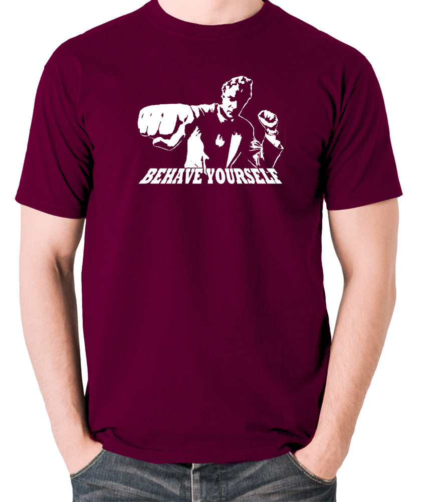 Get Carter - Jack Carter, Behave Yourself - Men's T Shirt - burgundy