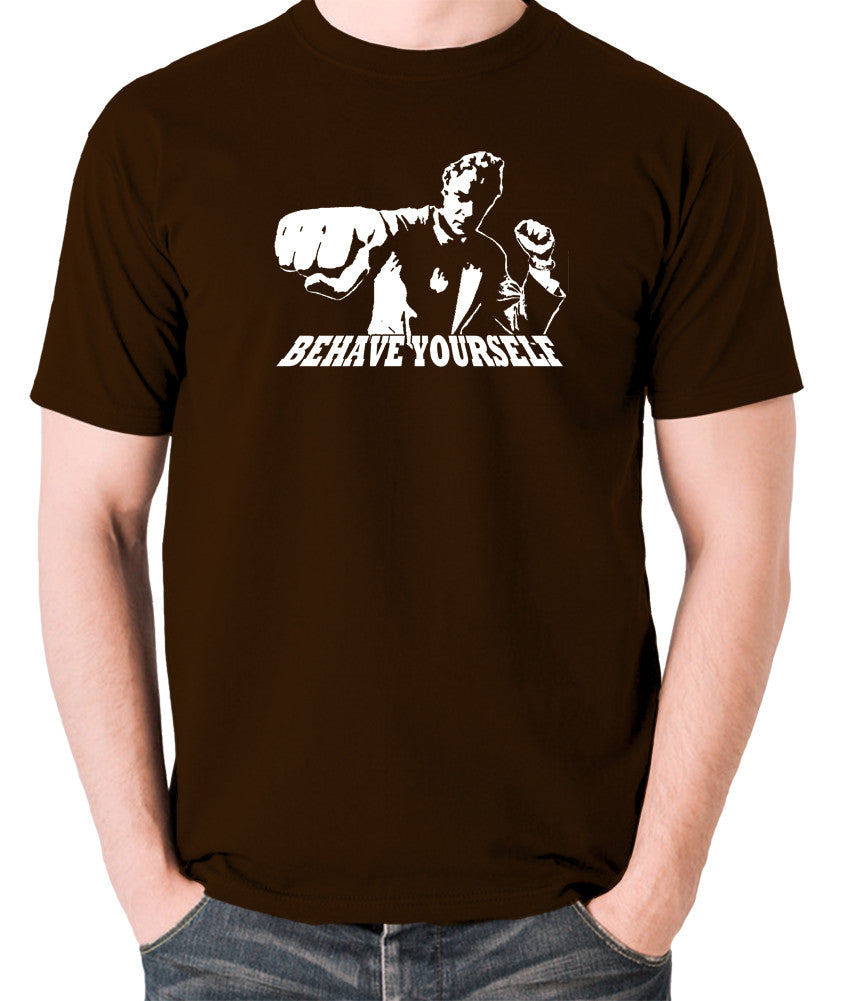 Get Carter - Jack Carter, Behave Yourself - Men's T Shirt - chocolate