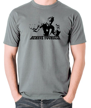 Get Carter - Jack Carter, Behave Yourself - Men's T Shirt - grey