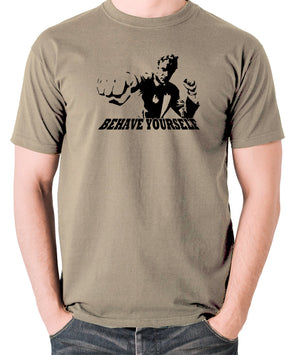 Get Carter - Jack Carter, Behave Yourself - Men's T Shirt - khaki