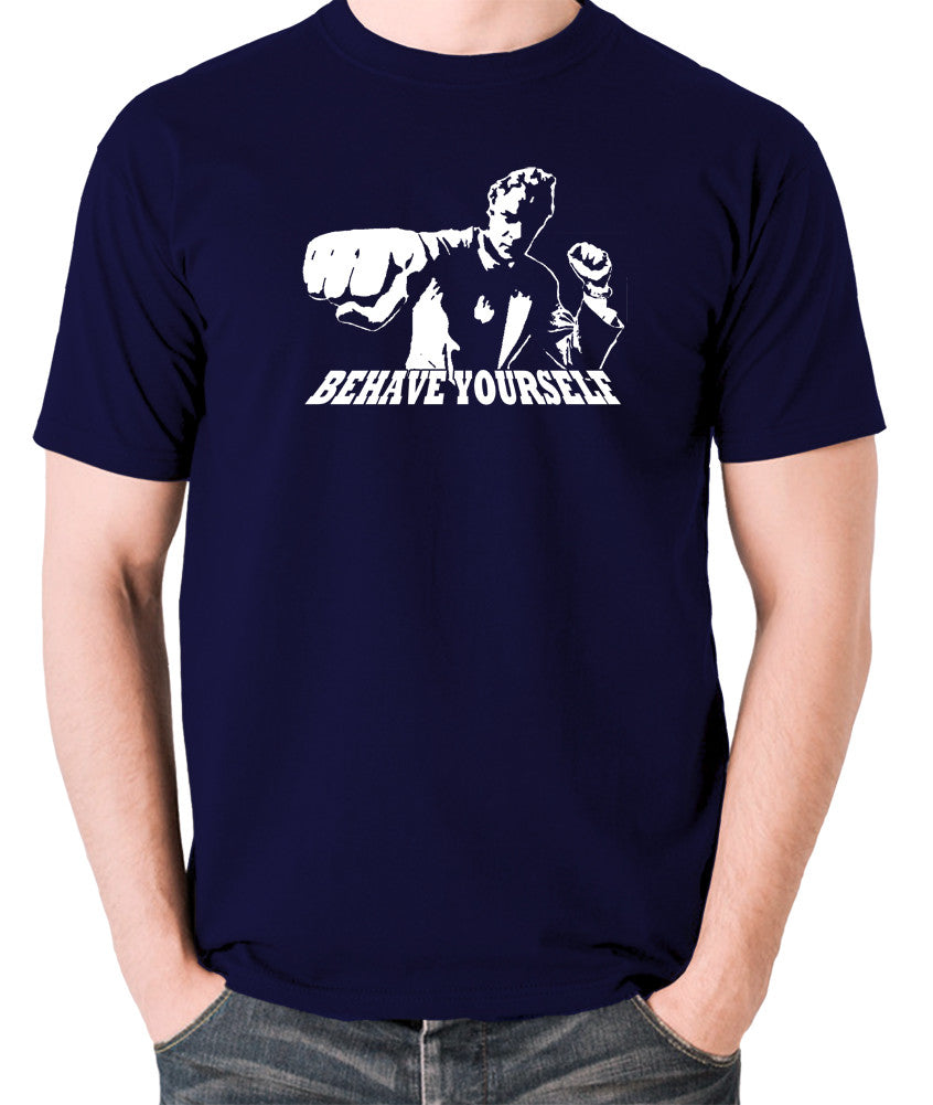 Get Carter - Jack Carter, Behave Yourself - Men's T Shirt - navy