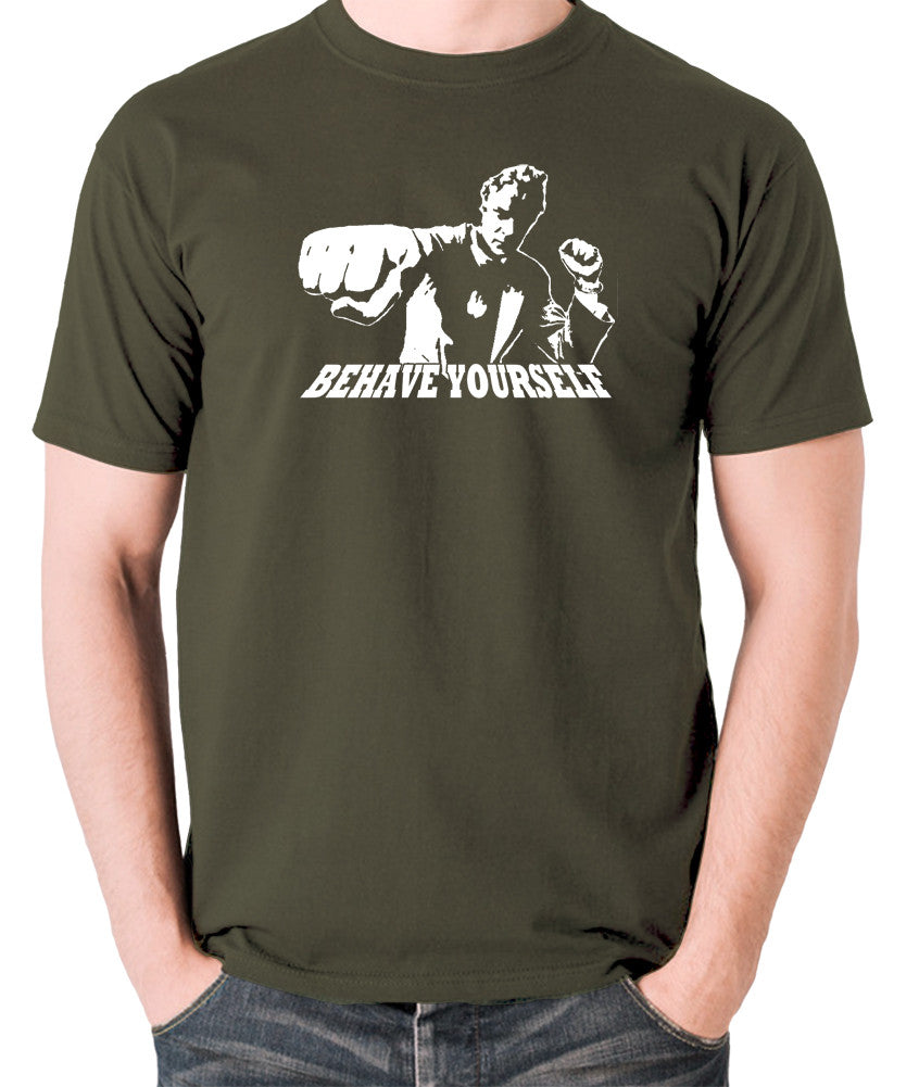 Get Carter - Jack Carter, Behave Yourself - Men's T Shirt - olive