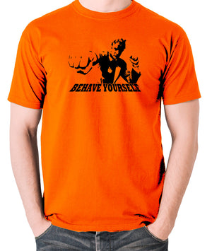 Get Carter - Jack Carter, Behave Yourself - Men's T Shirt - orange