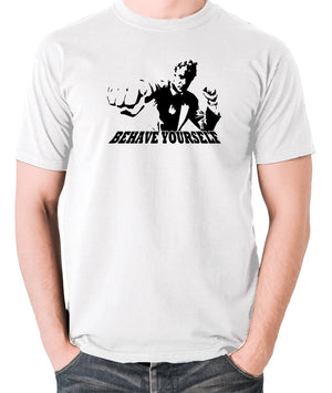 Get Carter - Jack Carter, Behave Yourself - Men's T Shirt - white