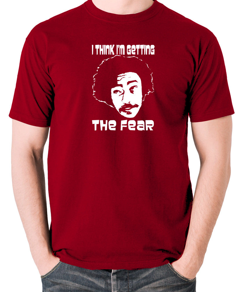 Fear and Loathing in Las Vegas - Dr Gonzo, I Think I'm Getting The Fear - Men's T Shirt - brick red