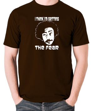 Fear and Loathing in Las Vegas - Dr Gonzo, I Think I'm Getting The Fear - Men's T Shirt - chocolate