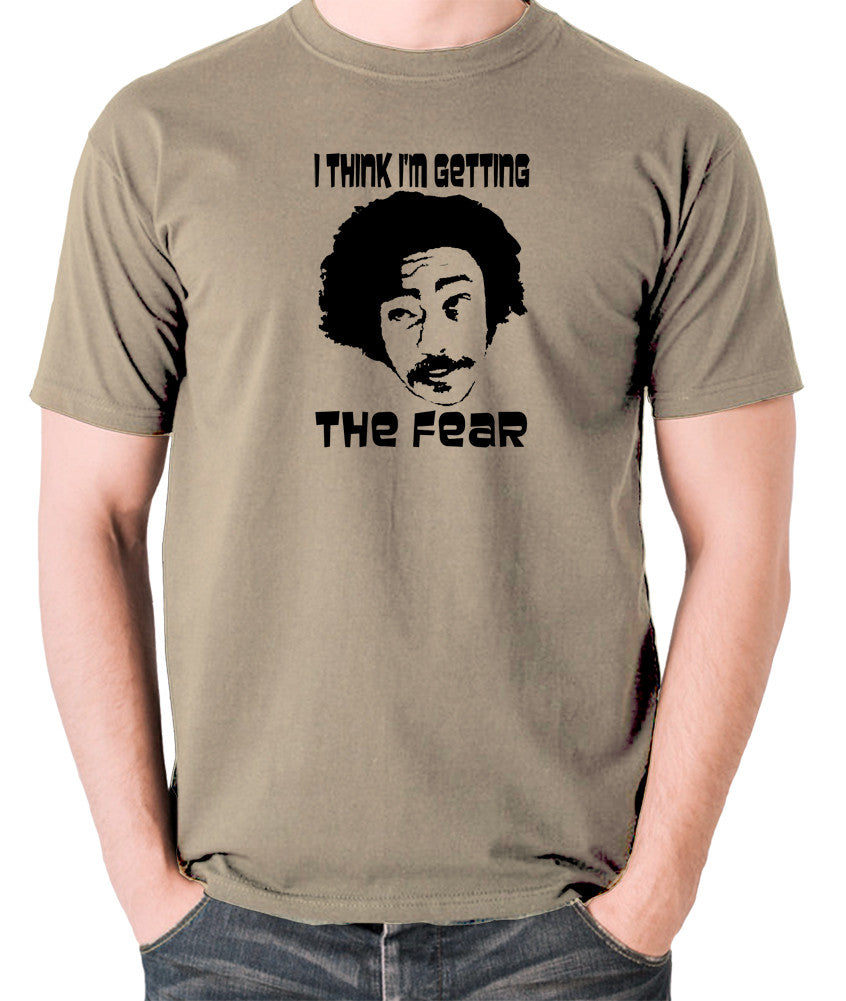 Fear and Loathing in Las Vegas - Dr Gonzo, I Think I'm Getting The Fear - Men's T Shirt - khaki