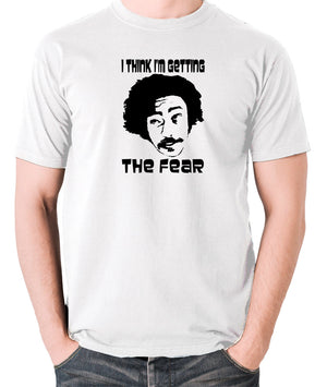 Fear and Loathing in Las Vegas - Dr Gonzo, I Think I'm Getting The Fear - Men's T Shirt - white