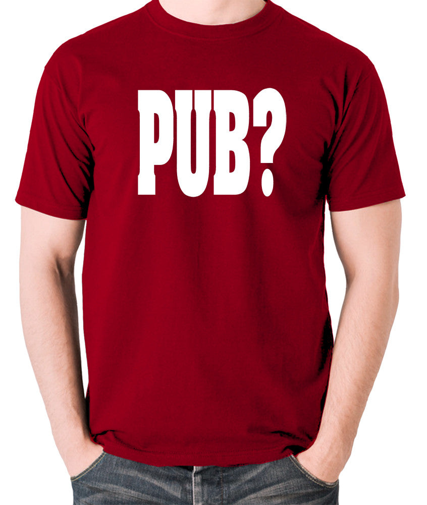 Hot Fuzz - PUB? - Men's T Shirt - brick red