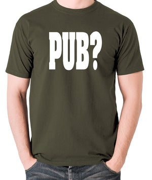 Hot Fuzz - PUB? - Men's T Shirt - olive