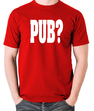 Hot Fuzz - PUB? - Men's T Shirt - red
