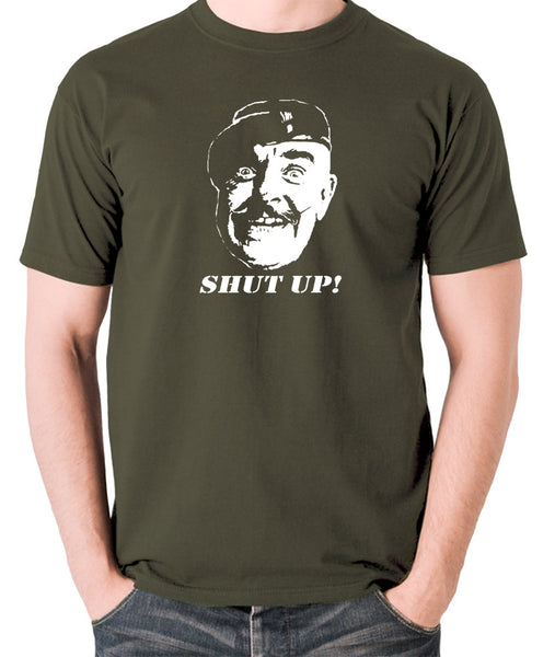 It Ain't Half Hot Mum - Sgt Major Williams, Shut Up! - Men's T Shirt - olive