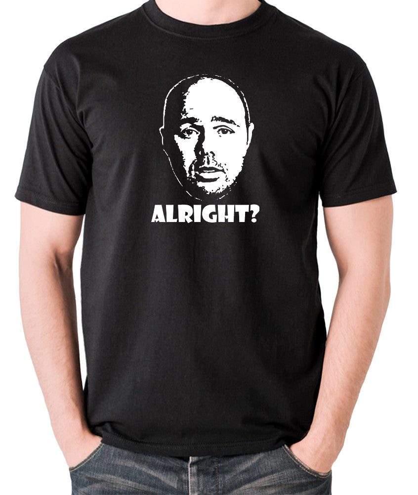 Karl Pilkington, Idiot Abroad, Ricky Gervais Show - Alright - Men's T Shirt - black