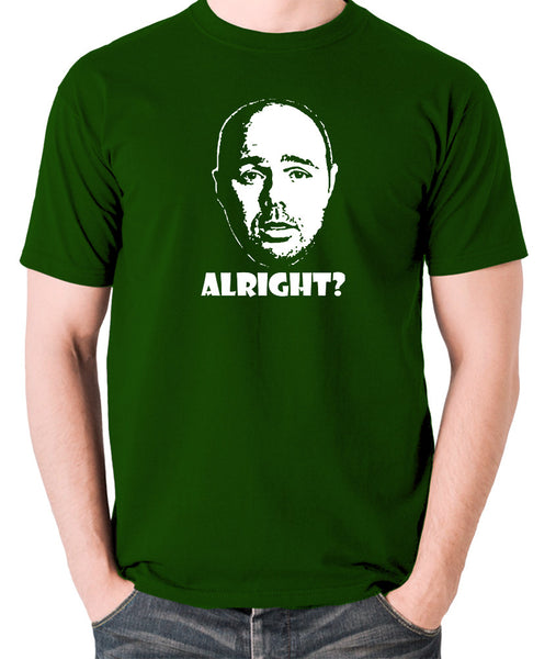 Karl Pilkington, Idiot Abroad, Ricky Gervais Show - Alright - Men's T Shirt - green
